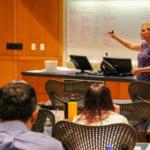 Cassandra Jones, assistant professor of feed technology at Kansas State University, presents information on sanitation controls during the NGFA-KSU FSMA Training for the Feed Industry. (Courtesy of KSU-IGP Institute)