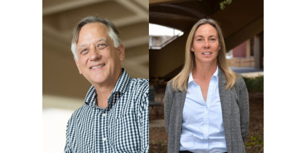 """The article, titled """"How to pay for saving biodiversity,"""" was written by Edward Barbier (left) and Joanne Burgess (right) of the Department of Economics in the College of Liberal Arts and Thomas Dean of the College of Business, all affiliates of CSU'sSchool of Global Environmental Sustainability. (Courtesy of CSU)"""