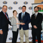 Matt and Kate Lambert of Laclede were the inaugural winners of the Missouri Leopold Conservation Award. Applications for this year's award program are available at www.mofarmerscare.com. (Photo Credit: Missouri Corn Merchandising Council)