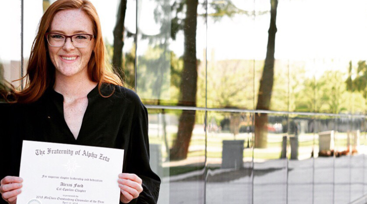Ag communications student receives nat'l honor