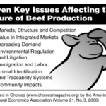 Seven key issues affecting the future of beef production. (Courtesy of NDSU Extension)