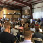 Governor Ricketts and Secretary Perdue met with dozens of Nebraska farmers and ranchers today in Alliance. (Courtesy of Office of Governor Pete Ricketts)
