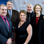 Pictured left to right: Curtis Zoller, Associate Dean, Agriculture, NCTC; Dennis Bona, President, NCTC; Carey Castle, Vice President of Academic & Student Affairs, NCTC; ADawn Nelson, Agriculture Instructor, NCTC; Lyle Westrom, Ag-Ed, AnSc Professor, U of M Crookston; Barbara Keinath, Vice Chancellor for Academic and Student Affairs, U of M Crookston; and Mary Holz-Clause, Chancellor, U of M Crookston. (Courtesy of Northland Community and Technical College)
