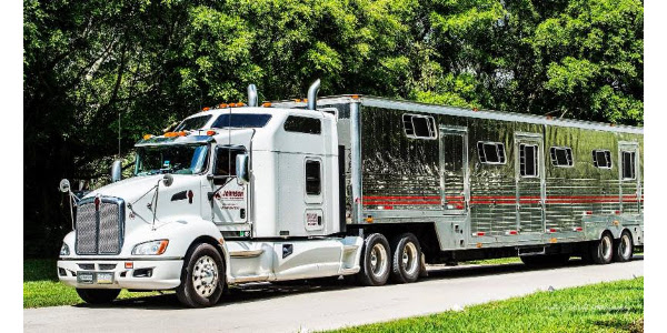 The official horse transportation partner of GLEF 2018, Johnson Horse Transportation, Inc., operates a custom designed fleet of trucks that are air-ride equipped to give your horses the safest and most comfortable ride to Traverse City this summer. (Photo: Courtesy of Johnson Horse Transportation, Inc)