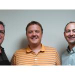 Pictured from left to right: Steve Vogel, Dan Vogel and Curt Vogel of Triple V, Inc. (Courtesy of Bayer)