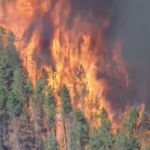Very dry conditions have led to several fires burning across Colorado. (Screenshot from video)