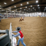 The 2018 competition marked the fifth consecutive appearance at the CNFR for members of the Husker rodeo team. (Courtesy of UNL)