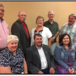 Aggie Alumni Association board members are prepared for the 2018 high school and college reunion on Saturday (June 16-17) at Curtis. Front row, from left, Ann Bruntz, Friend, vice president; Dave Mehaffey, Bellwood, president; Catherine Potter Hauptman, Curtis, secretary. Second row, from left, David Bruntz, Friend, Dan Stehlik, Kim Bowers Mortensen, past president, and Jerry Sundquist, all of Curtis, and Dave May, Bennet. (NCTA News)