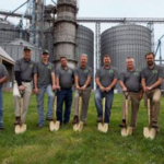 Shown in photo(Left to right) Jerel Shively, Dennis Shively, Andrew Shively, Chris Kenyon, Kevin Still, Adam Shively, Dewey, Trent Shively, and Ben Shively. (Courtesy of Alliance Feed)