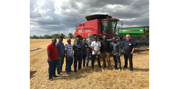 Flour milling executives from Sub-Saharan Africa are in the U.S. plains states to get the latest information about the hard red winter (HRW) wheat harvest, crop quality and value. (Courtesy of Kansas Wheat)