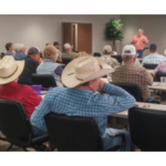 Independent cattle producers gathered together at PrairieLand Partners-John Deere in McPherson, Kansas for a Kansas Cattlemen's Association regional industry meeting on June 5th, 2018. (Courtesy of Kansas Cattlemen's Association)
