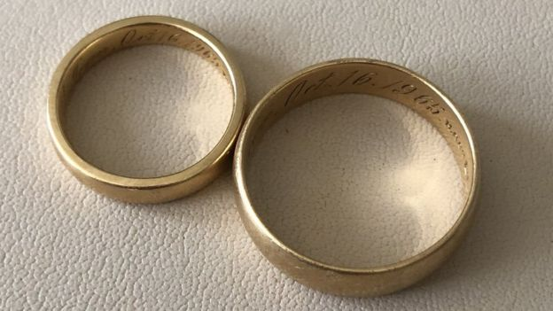 Lost wedding ring found on cricket pitch 52 years later