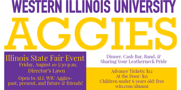 WIU aggies hosting event at Illinois State Fair