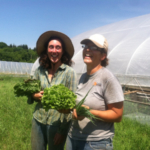 """""""Farmer Hannah Breckbill, owner of Humble Hands Harvest, and her farm partner, Emily Fagan, will host an 'In Her Boots' workshop July 26, sharing her experience, advice and insight with women looking to start their own farm operations."""" (Courtesy of MOSES)"""