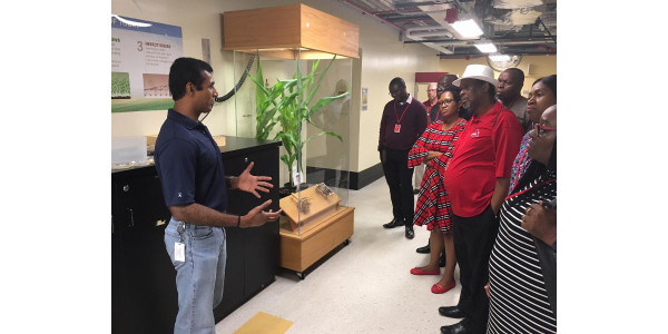 A group of Nigerian government officials and regulators recently visited the United States to learn more about the benefits of biotechnology and grain trade logistics. (Courtesy of Missouri Corn)