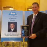 Joel DeRouchey, K-State Research and Extension specialist in livestock nutrition and environmental management, has received the Extension Award from the American Society of Animal Science. (Courtesy of K-State Research and Extension)