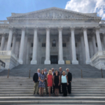 KSA farmers and staff met with legislators on Capitol Hill on Wednesday. Front, ASA Valent Future Voices of Agriculture participant Camryn Clift, summer intern Cali Parish, summer intern Harley Stephens and KSA Executive Director Debbie Ellis. Back, Jack Trumbo, ASA Director Caleb Ragland, ASA Vice President Davie Stephens, ASA Director Gerry Hayden and KSA President Larry Thomas. (Courtesy of Kentucky Soybean Association)