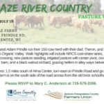 The Prindle family will host a July 18 pasture walk on their Alma Center farm.