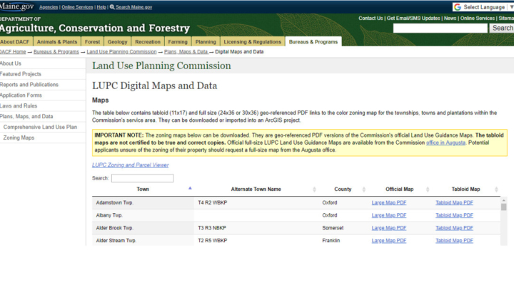 LUPC maps & data now online