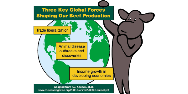 Three key global forces shaping our beef production. (Courtesy of NDSU Extension)