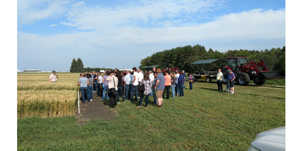NDSU Agronomy Seed Farm field tour July 16