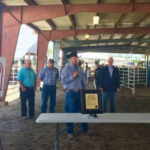 Gov. Ricketts with county commissioners and livestock producers announcing Furnas County as Nebraska's 46th livestock friendly county. (Courtesy of Office of Governor Pete Ricketts)