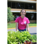 Emma Hurst of the Blair Oaks FFA Chapter maintains the garden at the Missouri Department of Agriculture. (Courtesy of MDA)