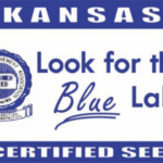 Seeing a blue Certified Seed label gives producers assurance the seed has met acceptable minimums for test weight, germination and purity, and has no noxious weed seeds. (Courtesy of Kansas Wheat Alliance)