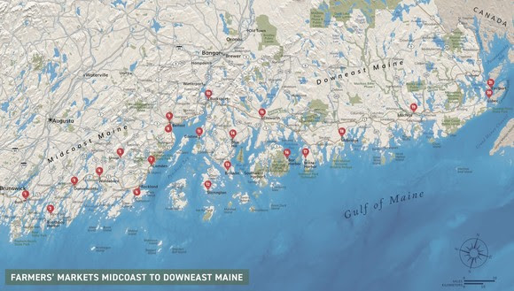 New Map Of Midcoast Downeast Farmers Markets Morning Ag Clips