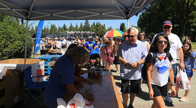 Food drive at California State Fair a HUGE success