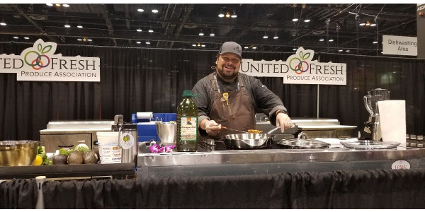 Chef Daniel Asher, Executive Chef of River and Woods in Boulder Colorado, was awarded the 2018 Produce Excellence in Foodservice for Fine Dining Restaurants at the United Fresh annual conference and expo. (Courtesy of Potatoes USA)
