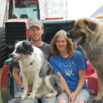 Dave and Meg started Troublesome Creek Cattle Co. in 2012 when they got married. In 2014, they purchased 80 acres of the Century Farm where Meg grew up, and where her parents still raise row crops. (Courtesy of Practical Farmers of Iowa)