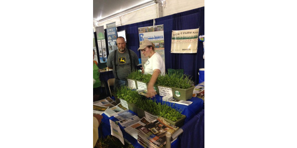 Practical Farmers of Iowa invites farmers with questions about cover crops to stop by the Practical Farmers booth during this year's Farm Progress Show, Aug. 28-30, in Boone. (Courtesy of Practical Farmers of Iowa)
