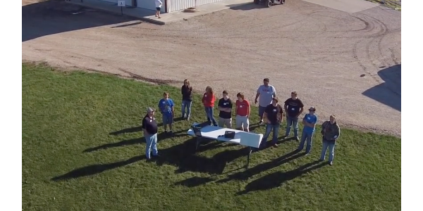 Iowa State University (ISU) Extension and Outreach will host its annual Precision Agriculture and Animal Science Field Days for area high school students on Tuesday through Thursday, Sept. 4-6 at the Northwest Iowa Research Farm near Sutherland. (Screenshot from video)