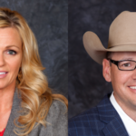 Britt Dinis (left), a dairy farmer from Wiggins, will represent her fellow dairy farmers on the Board until her term expires on July 1, 2022. Nolan Stone (right), a cattle producer from Eaton, will represent the cattle feeding industry until his term expires on July 1, 2022. (Courtesy of Colorado Livestock Association)