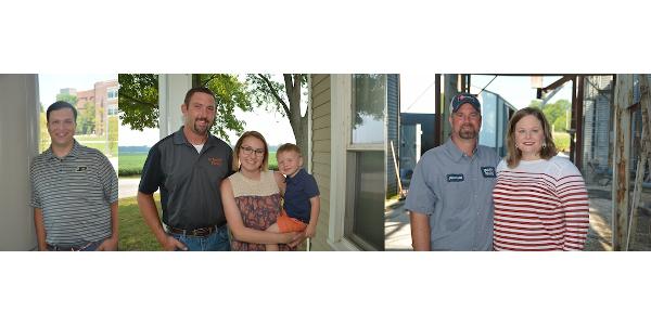 Alan Duttlinger, Eric and Megan Scheller and Jonathan Spaetti and Derika Lynam-Spaetti. (Courtesy of Indiana Farm Bureau)