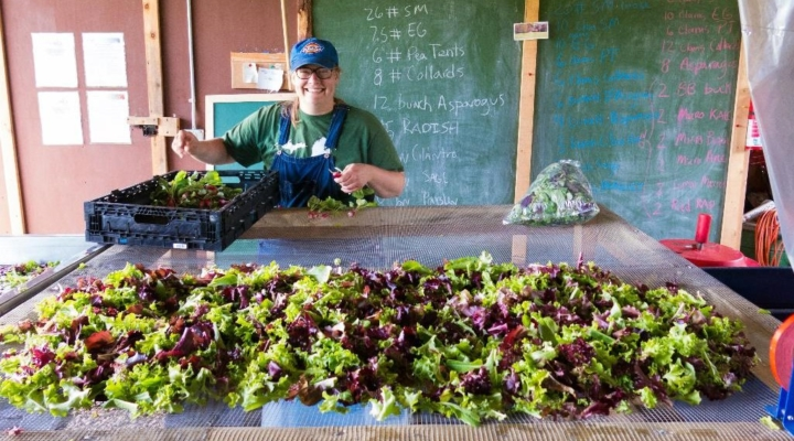 Farmer grows to feed her community