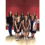 Front Left to Right: Sarah Stegge, Claire Ohlrichs, Bailiee Jauer. Back Left to Right: Ann Schoenrock, Melinda Zubrod, Aubree Nilles, Kristen Heimgartner, Kirsten Thoms. (Courtesy of ISU Extension and Outreach)