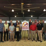 Governor Ricketts with Senator Mark Kolterman and Seward County representatives announcing Seward County as Nebraska's 48th Livestock Friendly County. (Courtesy of Office of Governor Pete Ricketts)