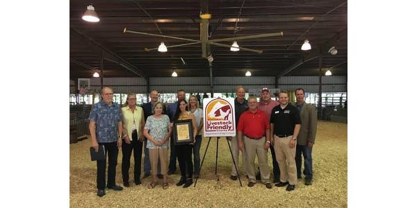 Governor Ricketts with Senator Mark Kolterman and Seward County representatives announcing Seward County as Nebraska's 48th Livestock Friendly County. (Courtesy of Office of Governor Pete Ricketts)