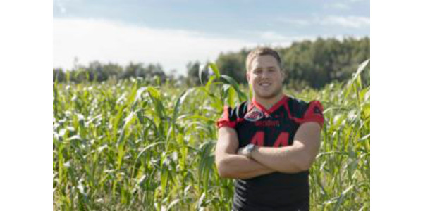 Redhawks senior tight end and scholar athlete Bud Hilburn is taking advantage of all the opportunities – both academic and athletic – Southeast Missouri State University has to offer. (Courtesy of Southeast Missouri State University)