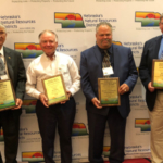 Conservation Award Winners (four of the six winners) Together: Don Kavan – Director of the Year, Dan Kathol – Community Conservation Award, Scott and Barbara Gonnerman – Soil Stewardship Award, Educator of the Year – Philip Simpson. (Courtesy of NARD)