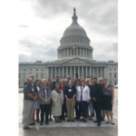 The Wisconsin group attending the 2018 National Farmers Union Fly-In to Washington, D.C. Sept. 11-14 included, left to right, (front row) Keith Kreager, Marathon; Virginia Drath, Emerald; Alicia Razvi, Stevens Point; Justin Briggs, Stratford; Sarah Lloyd, Wisconsin Dells; Jesse and Danielle Endvick, Holcombe; (middle row) Lauren Langworthy, Wheeler; Camryn Billen, Chippewa Falls; Sarah Heck, Durand; Bobbi Wilson, Madison; National Farmers Union Vice President Patty Edelburg, Scandinavia; Rick Adamski, Seymour; (back row) Matt Sheaffer, Brodhead; ;; Kara O'Connor, Madison; Caleb Langworthy, Wheeler; Dennis Rosen, Emerald; Chris Holman, Custer; and WFU President Darin Von Ruden, Westby. (Courtesy of WFU)