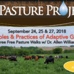 Join soil and livestock expert Dr. Allen Williams for three farmer and rancher focused events on how to use adaptive livestock grazing to improve soil health, forage production and farm finances. (Screenshot from flyer)