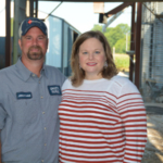 Jonathan Spaetti and Derika Lynam-Spaetti, Spencer County, won the INFB Young Farmer Excellence in Agriculture Award, which recognizes young farmers who do not derive the majority of their income from an owned production-agricultural operation. (Courtesy of Indiana Farm Bureau)