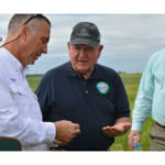 U.S. Agriculture Secretary Sonny Perdue, center, toured several Farm Bill sites in Iowa. (Courtesy of Ducks Unlimited)