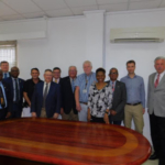 While in Lagos, Nigeria, the 2018 Sub-Saharan Africa Board Team met with executives at Flour Mills of Nigeria at the company's mill in Apapa area of Lagos. (Courtesy of Kansas Wheat)