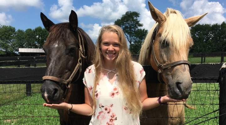 UD students learn about thoroughbred horse training
