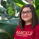 Megan Kemp, a senior majoring in agronomy and global resource systems, was one of seven undergraduate students nationwide to receive the George Washington Carver Spirit of Innovation and Service Award at Tuskegee University in September. (Courtesy of ISU)