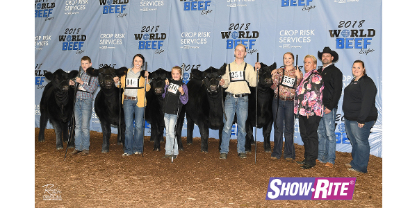 The top five heifers and champion steers. (Courtesy of World Beef Expo)